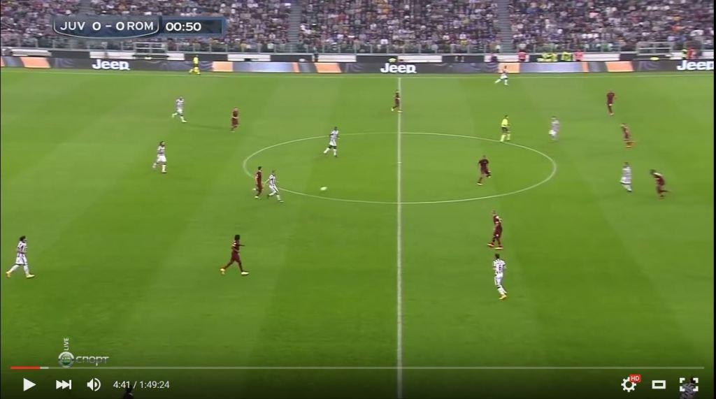 Juventus im Spielaufbau